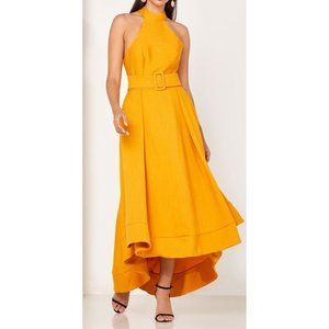 NWT C/MEO Collective Confirmative Gown in Mustard